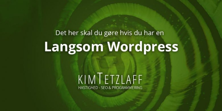 langsom wordpress