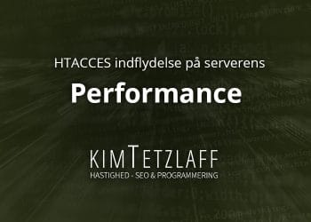 htaccess indflydelse performance