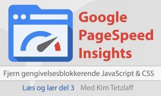 Fjern gengivelsesblokerende JavaScript og CSS fra indholdet over skillelinjen
