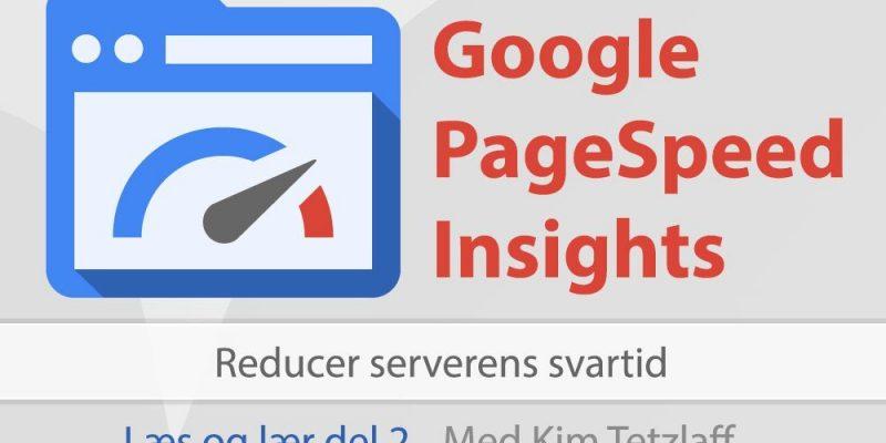 google pagespeed insights del 2 reducer serverens svartid
