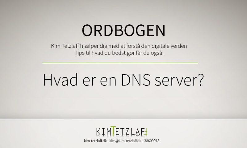 Hvad er en DNS server