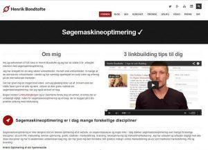 Henrik Bondtofte - Søgemaskineoptimering