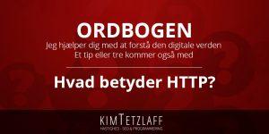 Hvad betyder HTTP?