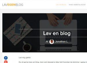 lav egen blog